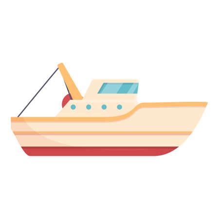 Ocean fishing boat icon, cartoon style