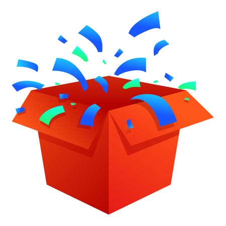 Lovely surprise box icon, cartoon style 矢量图像
