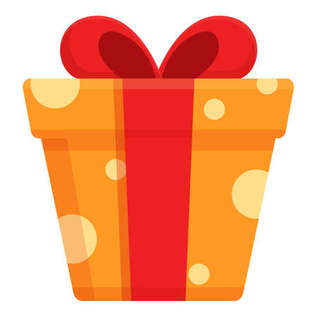 Surprise box icon, cartoon style
