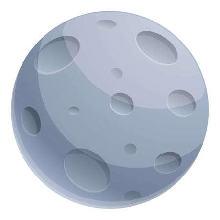 Magic moon icon, cartoon style