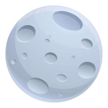 Mystical moon icon, cartoon style