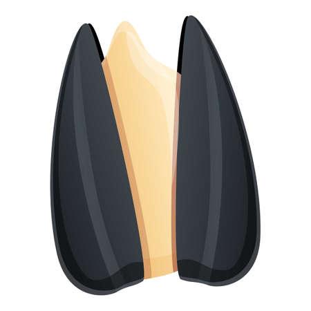 Vegan sunflower seed icon, cartoon style 矢量图像