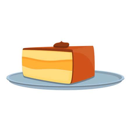 Breakfast cake icon, cartoon style