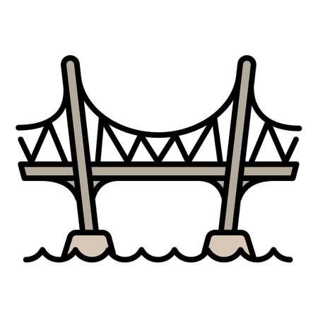 Aqueduct bridge icon, outline style