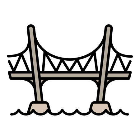 Aqueduct bridge icon, outline style
