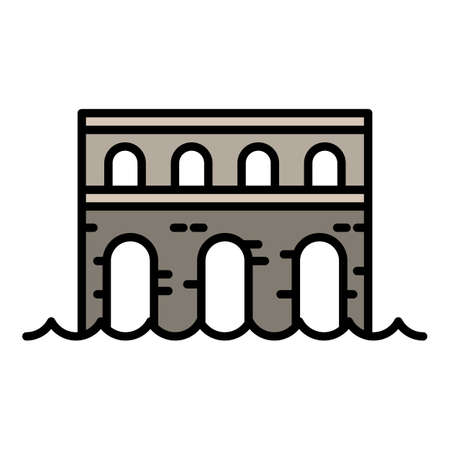 Stone bridge icon, outline style