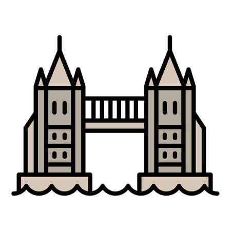 London bridge icon, outline style