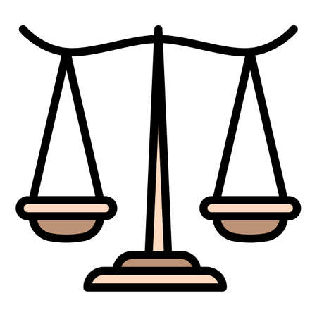 Courthouse balance icon, outline style