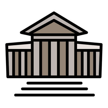 Courthouse stairs icon, outline style