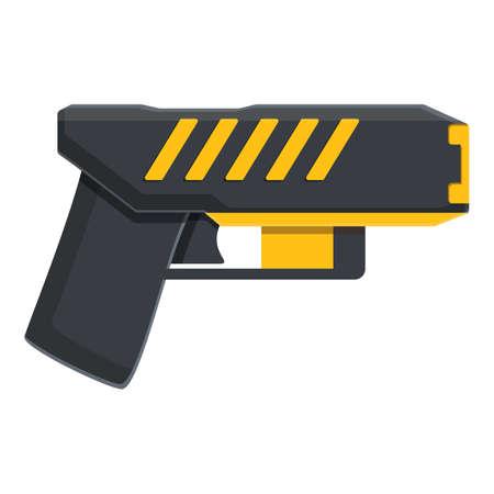 Taser stun defense icon, cartoon style