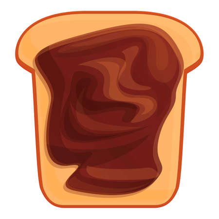 Nut chocolate paste icon, cartoon style Vettoriali