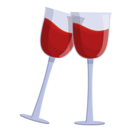 Party cheers icon, cartoon style Stock Illustratie