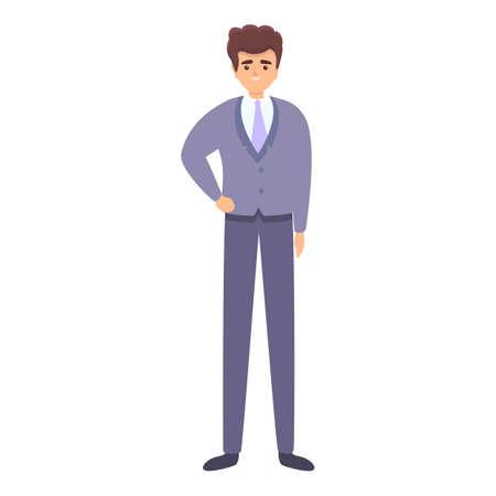 Businessman icon, cartoon style