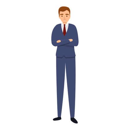 Successful businessman busy icon, cartoon style Stock Illustratie