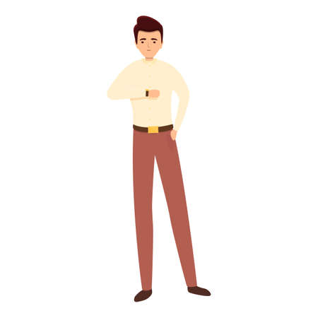Successful businessman student icon, cartoon style