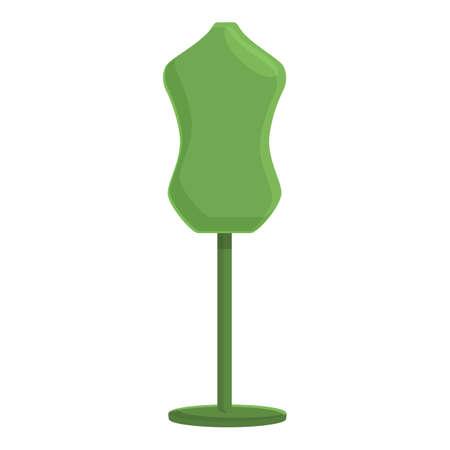 Clothing repair stand icon, cartoon style Stock Illustratie