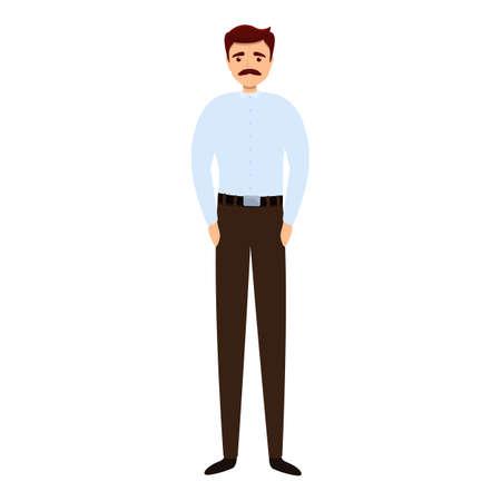 Successful businessman shirt icon, cartoon style Stock Illustratie