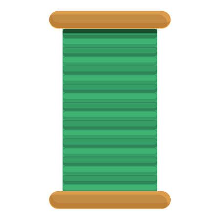 Coil thread icon, cartoon style
