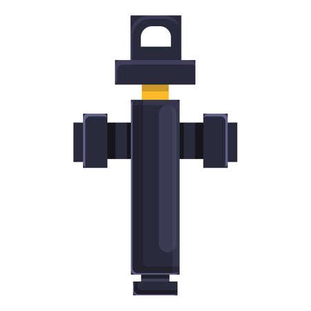 Garden water pump icon, cartoon style Stock Illustratie