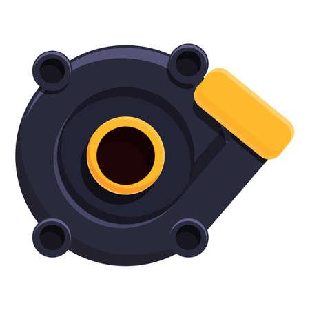 Turbine pump icon, cartoon style