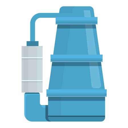 Filter water pump icon, cartoon style Stock Illustratie