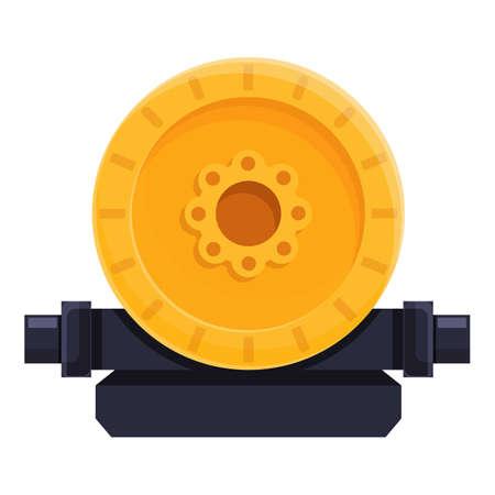 Industrial pump icon, cartoon style