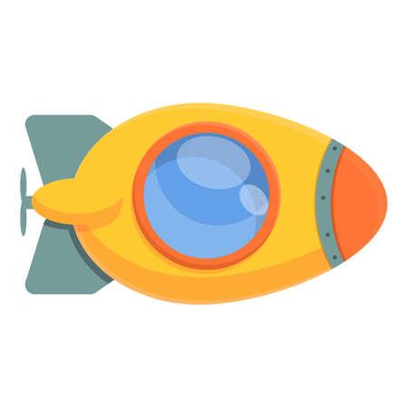 Bathyscaphe toy icon, cartoon style