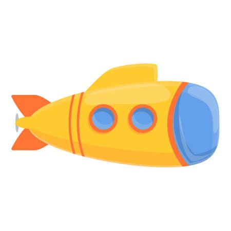 Defence bathyscaphe icon, cartoon style