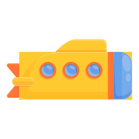 Captain bathyscaphe icon, cartoon style