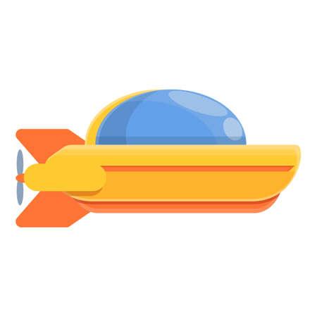 Aqua bathyscaphe icon, cartoon style