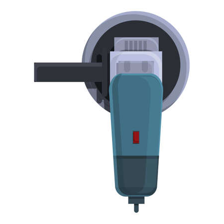 Carpentry grinding machine icon, cartoon style