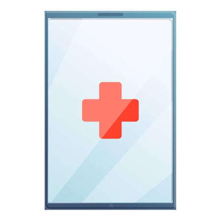 Tablet repair icon, cartoon style