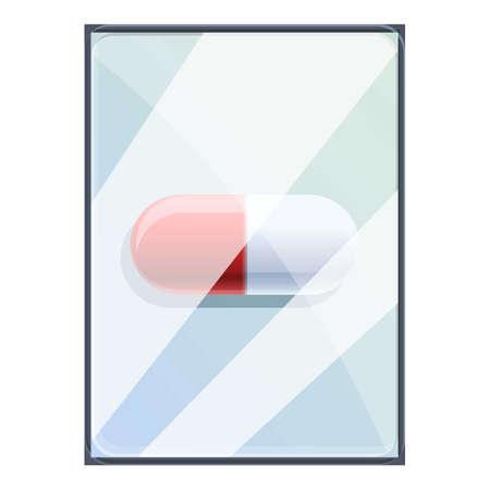 Pill tablet repair icon, cartoon style