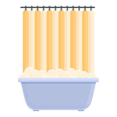 Shower curtain indoor icon, cartoon style 向量圖像