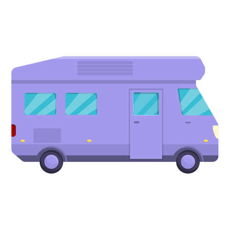 Auto camping icon, cartoon style 向量圖像