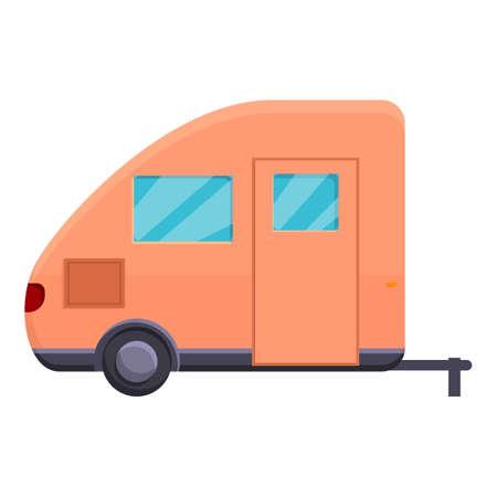 Auto camping trailer icon, cartoon style Vettoriali