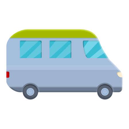Motorhome icon, cartoon style 向量圖像