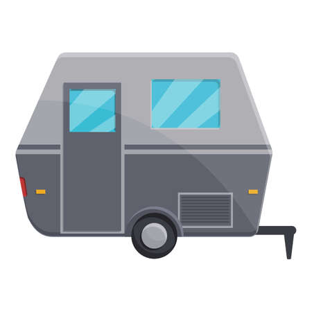 Motorhome automobile icon, cartoon style