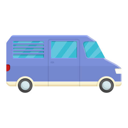 Small camp truck icon, cartoon style