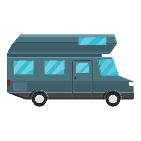 Modern motorhome icon, cartoon style