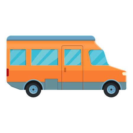 Voyage motorhome icon, cartoon style