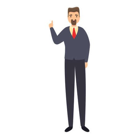 Business reportage icon, cartoon style