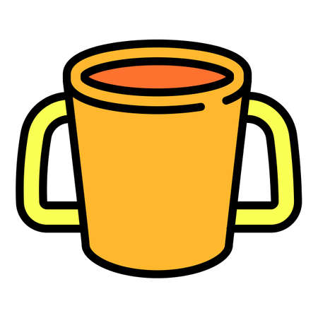 Baby cup icon, outline style