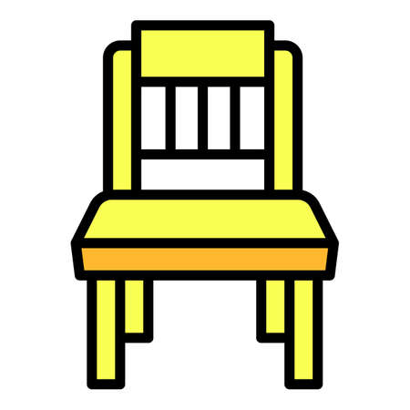 Baby chair icon, outline style