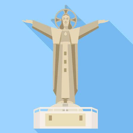 Vietnam statue icon, flat style