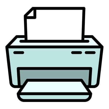 Toner printer icon, outline style