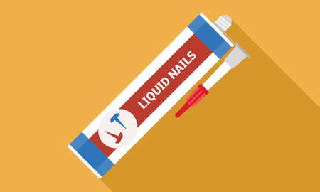 Liquid nails icon, flat style