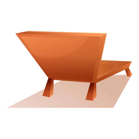 Beach chair icon, cartoon style Banque d'images