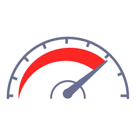 Internet speed technology icon, cartoon style