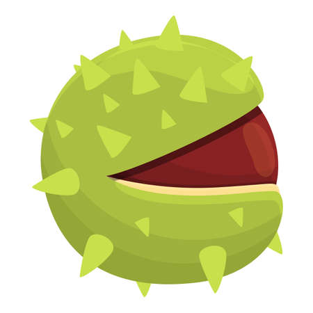 Chestnut glade icon, cartoon style